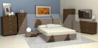 Полностью мягкие кровати с  обивкой реализация