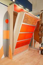 реализация  мебели для спальни с нетипичной архитектурой