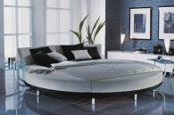 Кровати с обивкой из натуральной или эко-кожи