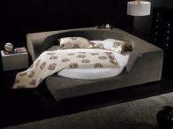 Кровати с обивкой из ткани